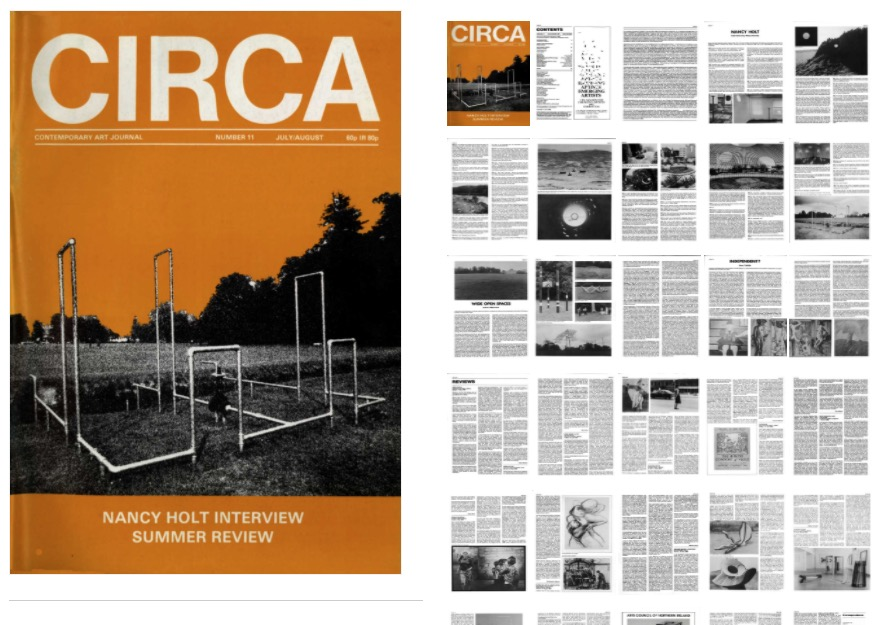 Cover and some of the pages of Circa Art Magazine, Issue 11: July / August 1983