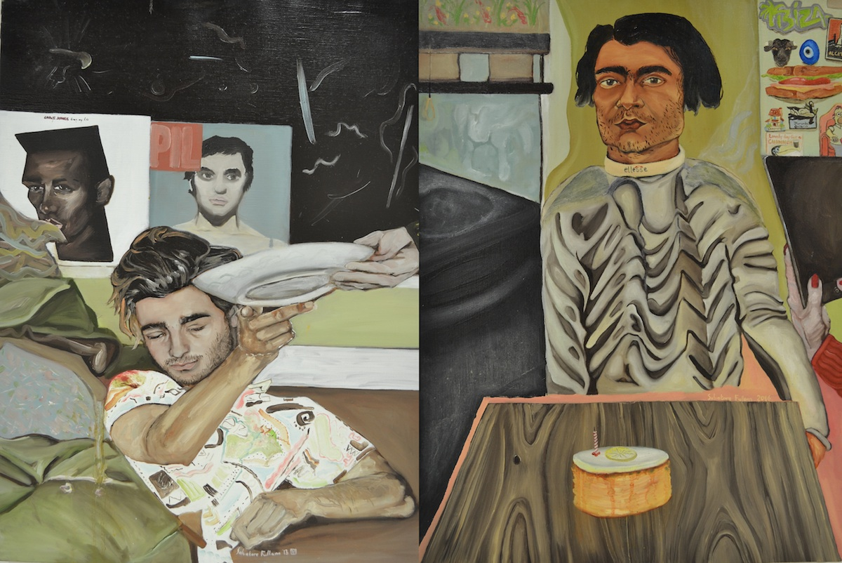 Salvatore Fullam, Me and My Ma's Hand, 2013, oil on canvas, and Self-Portrait on my 22nd Birthday, 2016, oil on canvas, images courtesy of the artist.