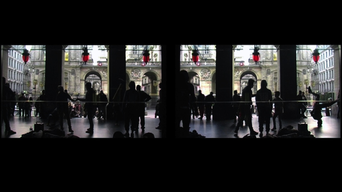 Stephen Gunning, video still from Rites of Winter, a single channel projection, 2014/15, filmed at the Opera National de Lyon, France. Total Duration 10 min, courtesy of the artist.