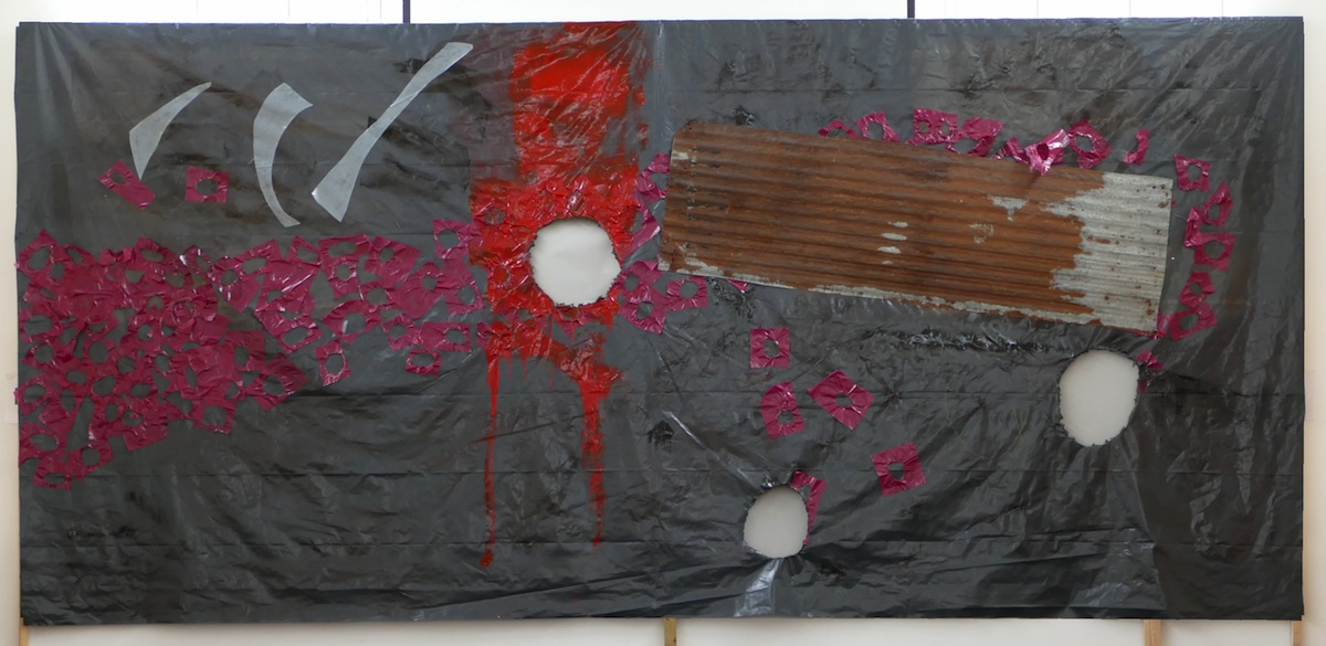 Cas McCarthy, Silent Land 3, 2017, 750 x 360 cm, mixed media, image courtesy of the writer.