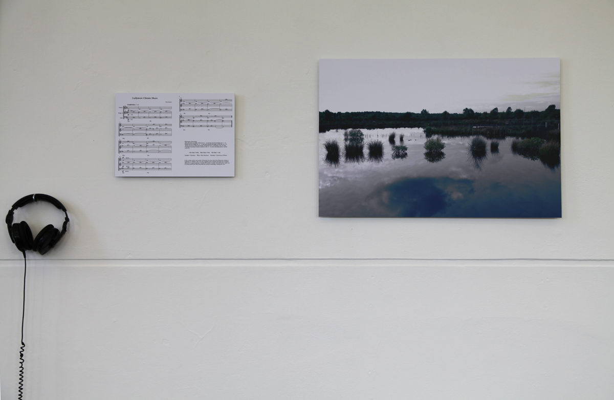 Thomas Garrett, 'Lullymore Climate Music', installation view, image courtesy of Sinead Hogan.