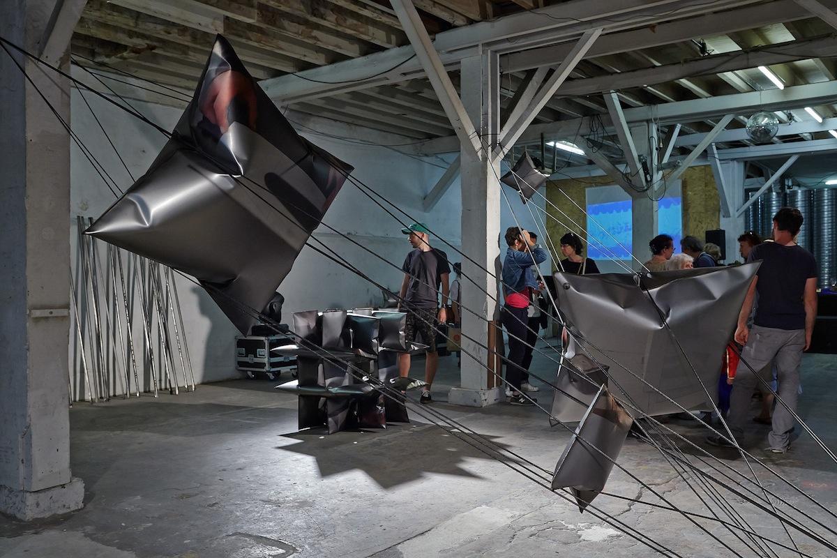 View of Aurélie Pétrel's work at Atelier Ni, Printemps de l'Art Contemporain, Marseille 2017 © jc Lett.