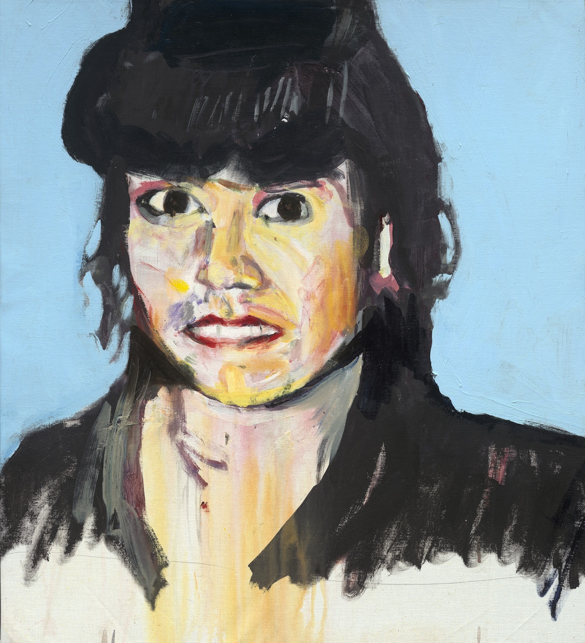Brian Maguire, Erika Perez Escobedo, acrylic on canvas, 2012, 81.5 x 73cm, Private Collection.