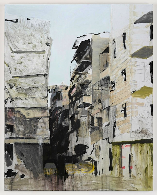 Brian Maguire, Aleppo 1, 2017. acrylic on linen, 200 x 160 cm. Image courtesy the artist and Kerlin Gallery.
