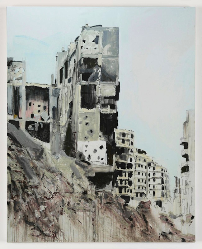 Brian Maguire, Aleppo 2, 2017. acrylic on linen, 200 x 160 cm. Image courtesy the artist and Kerlin Gallery.