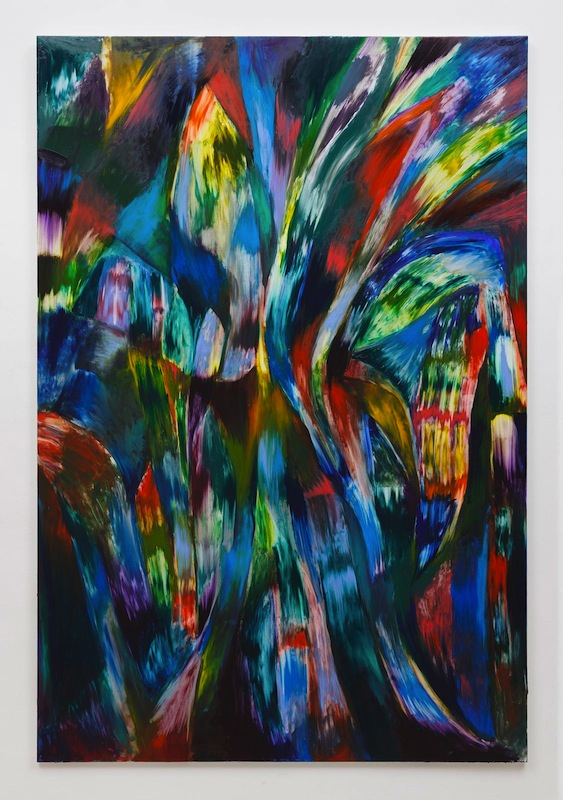 Jan Pleitner, Untitled, 2018, oil on canvas, 250 x 170 cm : 98.4 x 66.9 in
