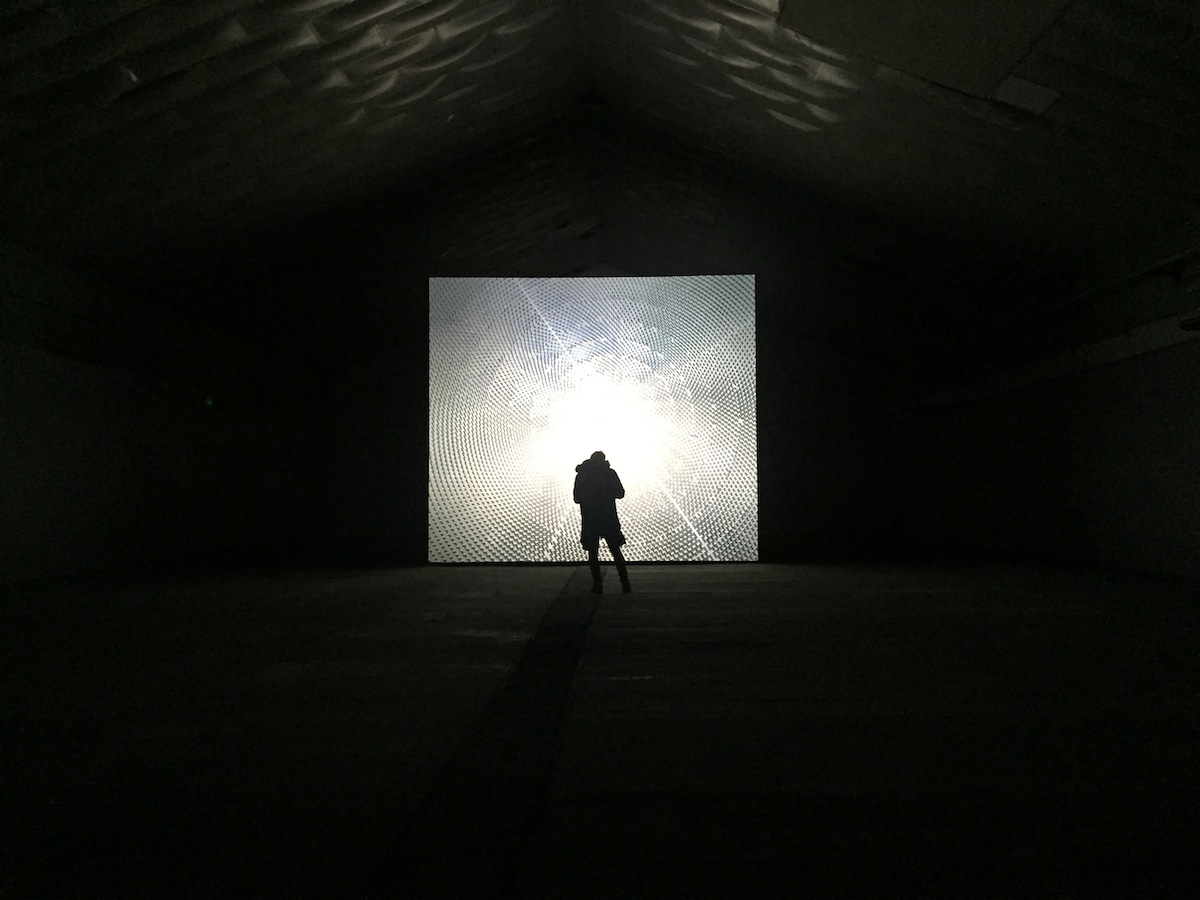 John Gerrard, Solar Reserve (Tonopah, Nevada), 2014, Simulation Dimensions variable, installation view at the 38th EVA International 2018, Photo: courtesy of the writer.