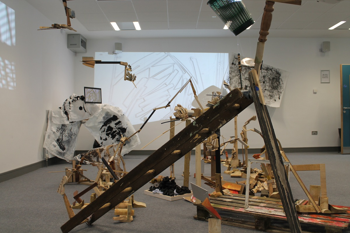 Ken Gunning, Degree Show installation view, image courtesy of the artist.