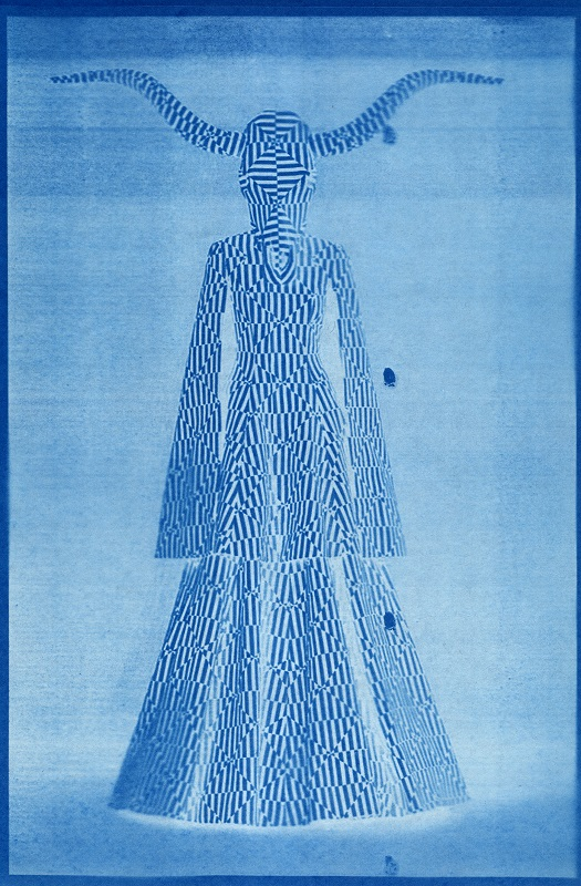 Breda Lynch Goat Woman, cyanotype/digital print, 2017 image courtesy of the artist