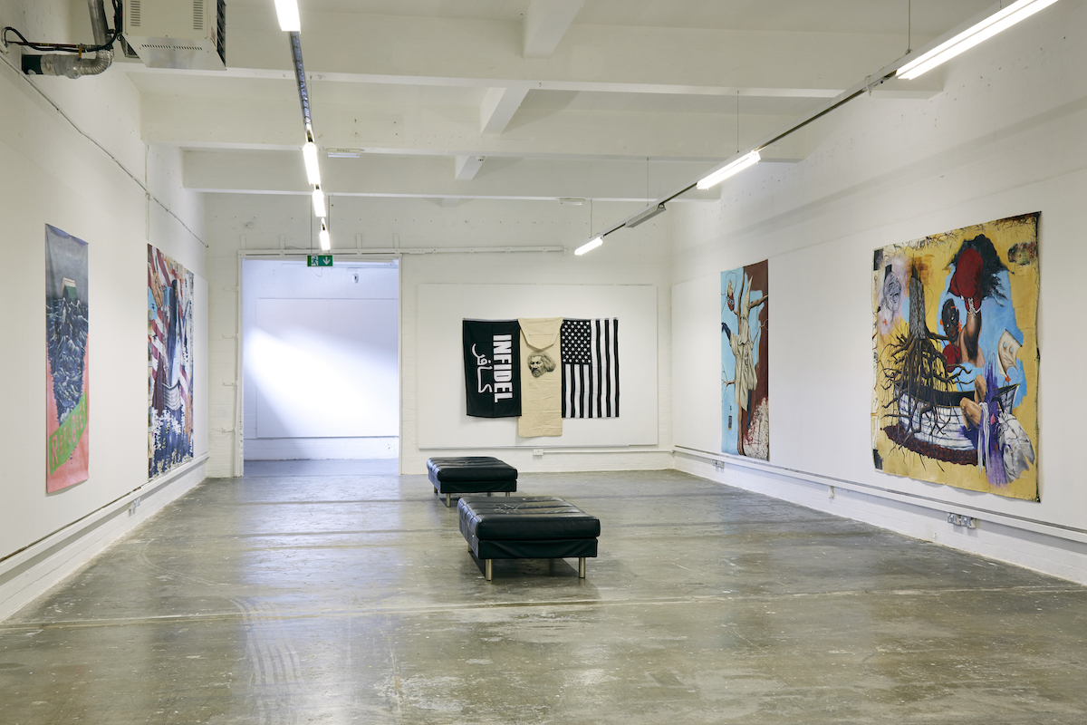 Travis Somerville, exhibition view, image credit Simon Mills.