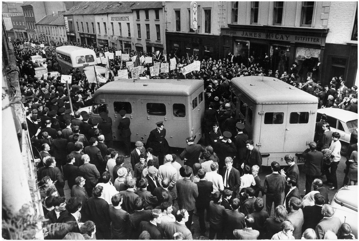 Londonderry demonstration - clash between Catholics and Protestants byTony McGrath 6 Oct 1968 © Guardian Newspaper