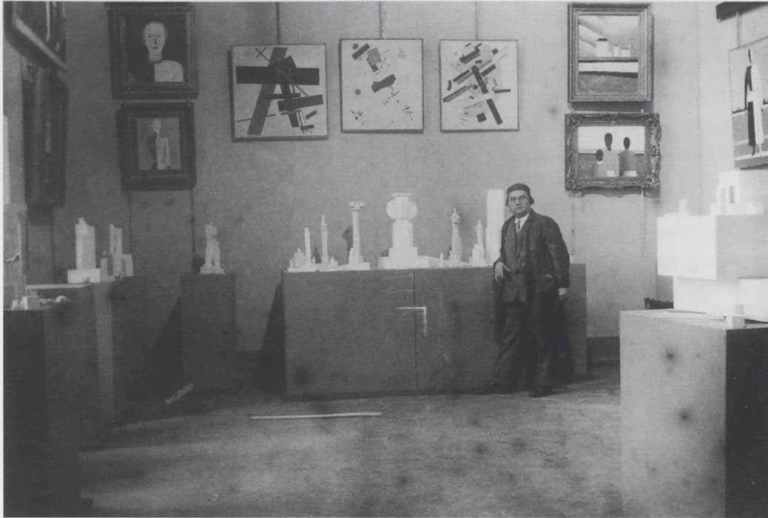 Fig 13. The Kazimir Malevich room at the 1932 exhibition, Fifteen Years of Artists of the Russian Soviet Socialist Republic.