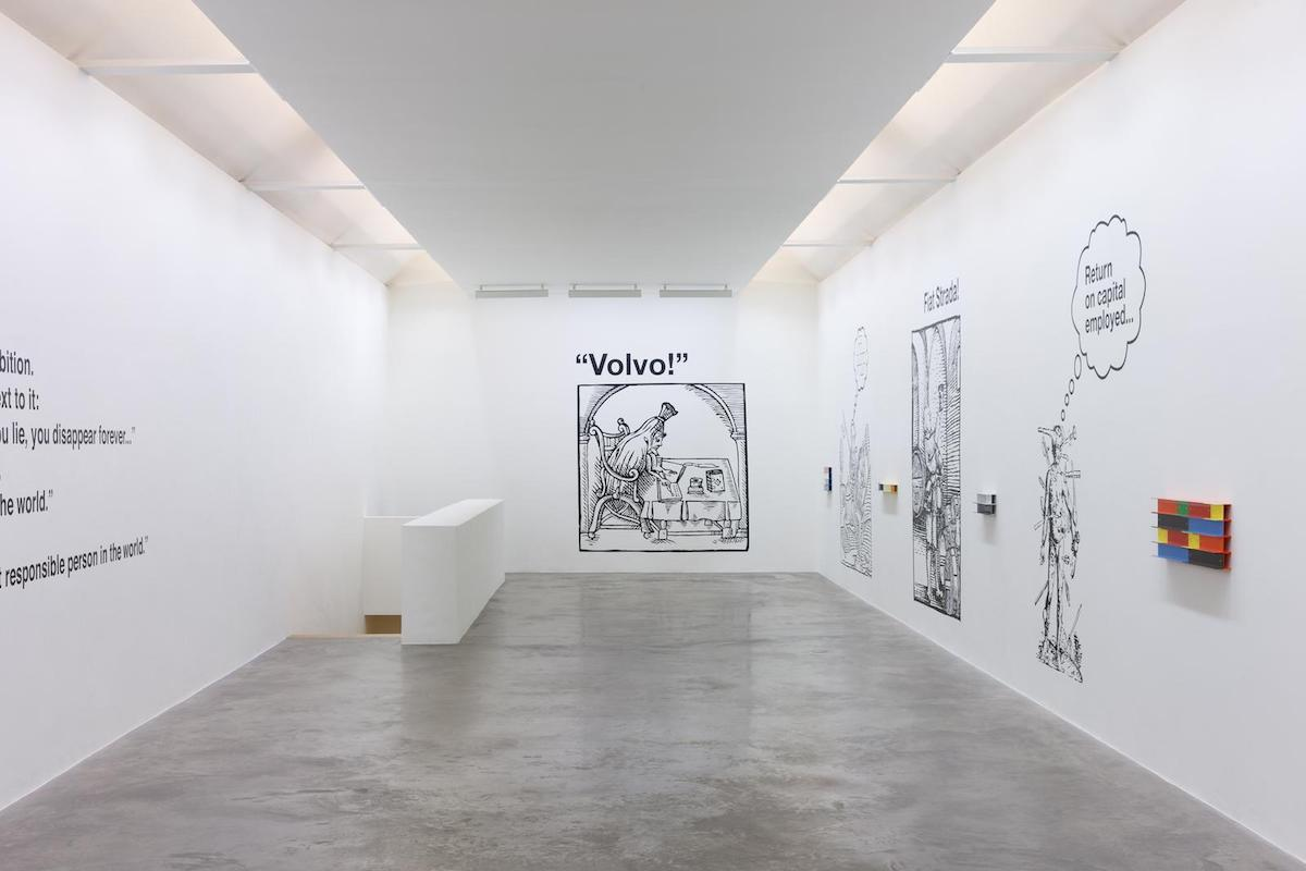 Liam Gillick, A Depicted Horse is not a Critique of a Horse, Installation view. Image courtesy of the artist and Kerlin Gallery, Dublin