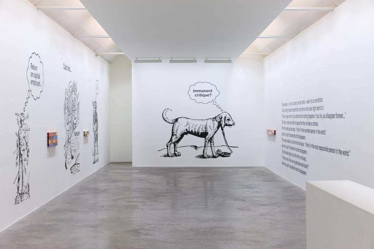 Liam Gillick, A Depicted Horse is not a Critique of a Horse, Installation view. Image courtesy of the artist and Kerlin Gallery, Dublin.