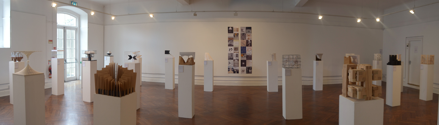 Design & Research at Garter Lane Arts Centre, installation view. Photography by the writer.