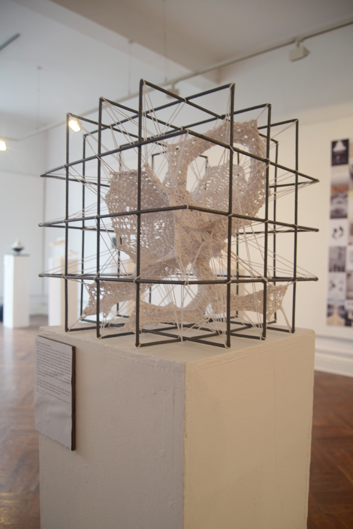 Textile Spatial Enclosure in Design & Research at Garter Lane Arts Centre, installation view. Photography by the writer.