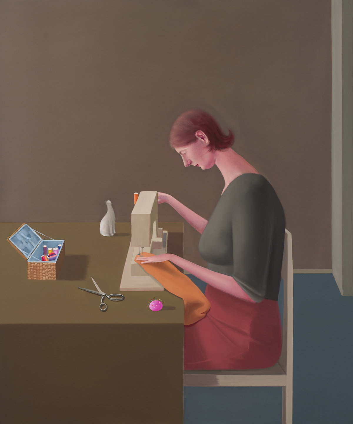 Prudence Flint, Sewing Machine, 2012, oil on linen, 122 x 102cm. Photography Ian Hill.