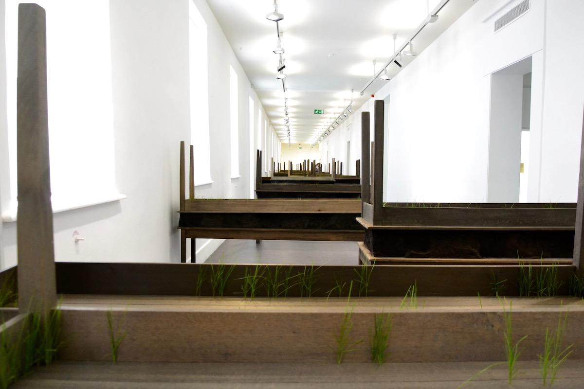 Doris Salcedo, Plegaria Muda, 2008-10, exhibition view, IMMA.  Photography: Dahlia Dreven.
