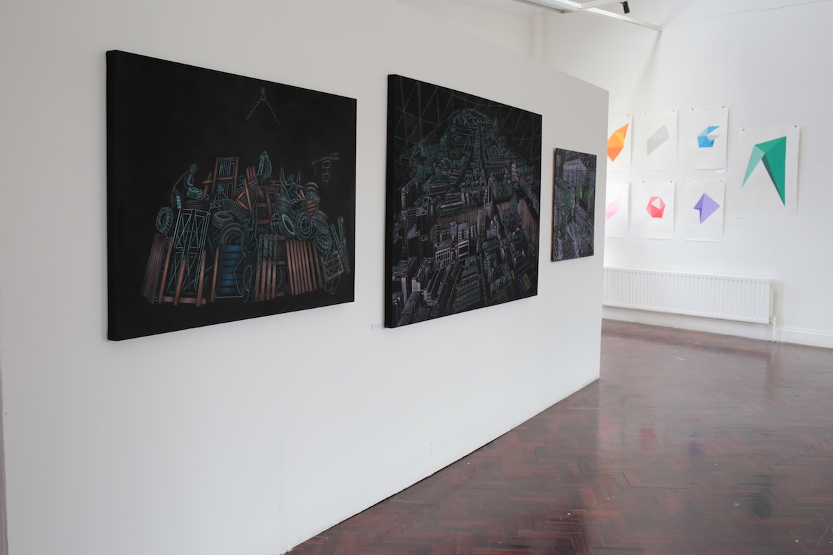 Andrew Neville, Up on the Hill, installation view, image courtesy of the artist.