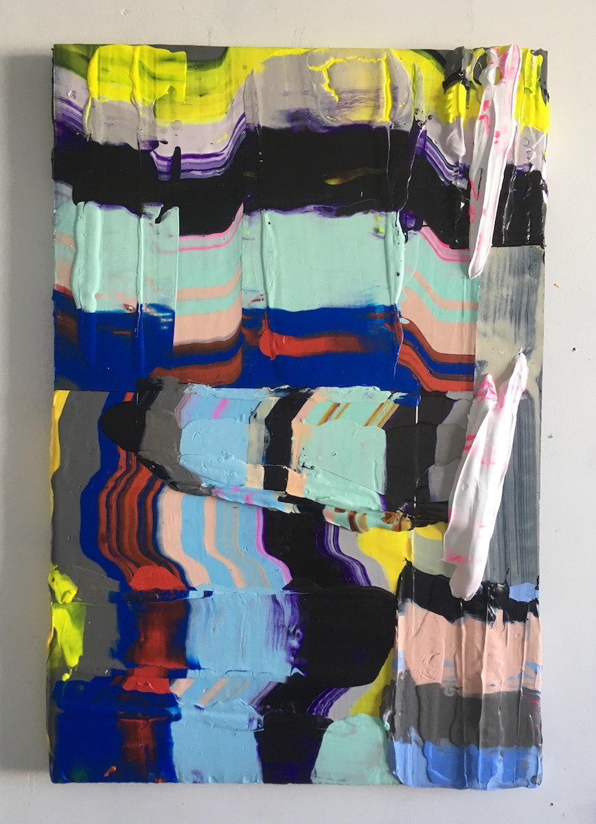 Natalia Black, Summer 2019, Acrylic on board 35 x 65 cms