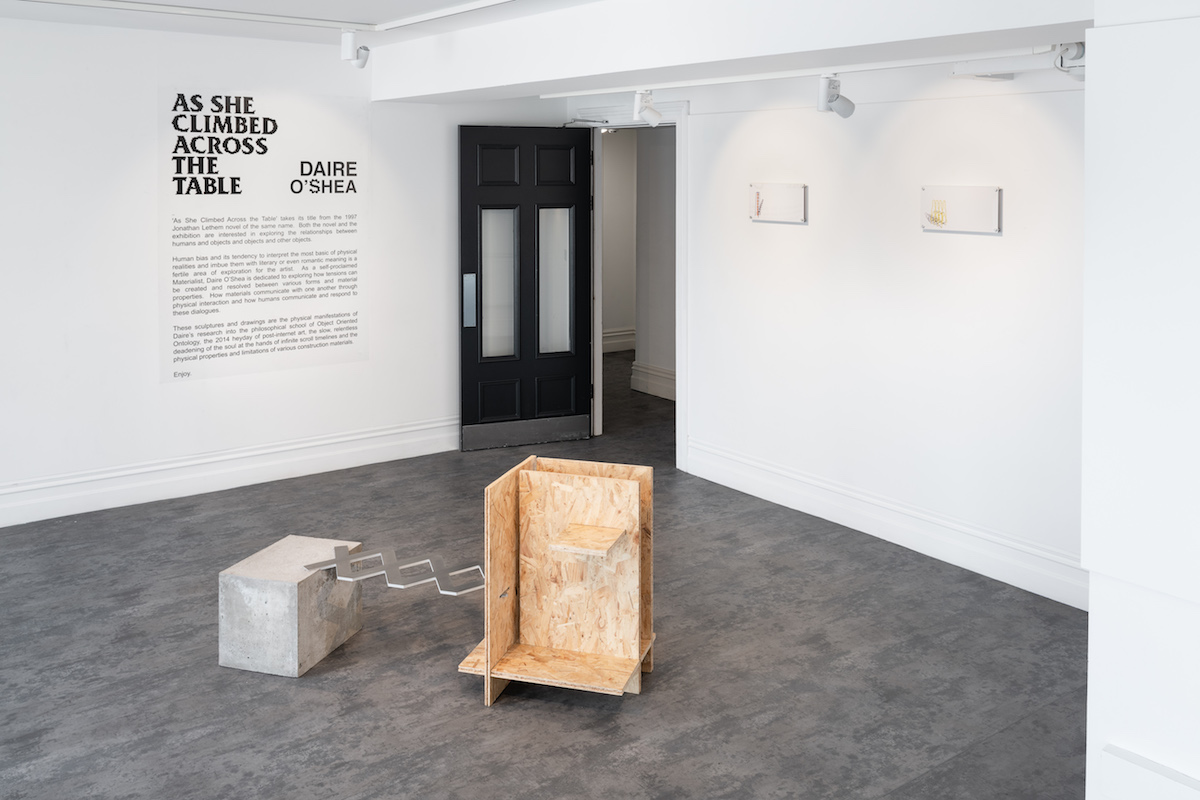 Daire O'Shea, As She Climbed Across The Table, installation view. Photography: Jed Niezgoda