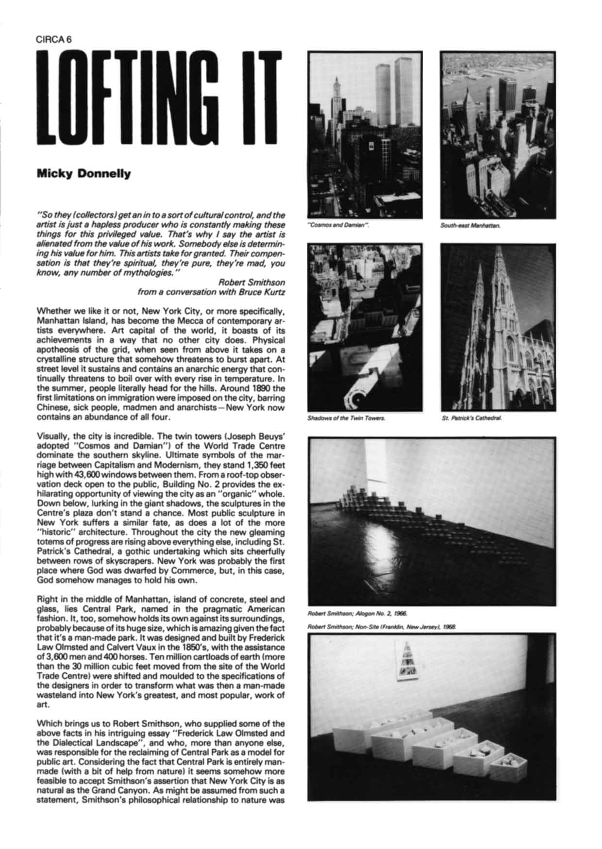 CIRCA Issue #5: Lofting It – Micky Donnelly