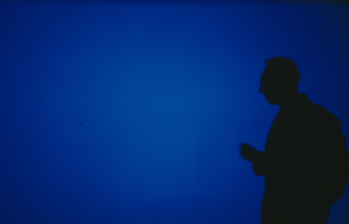 Derek Jarman, Blue, 1993, Film still, Digital Pro res with sound 5.1, Dimensions variable. Photo Liam Daniel courtesy & (c) Basilisk Communications