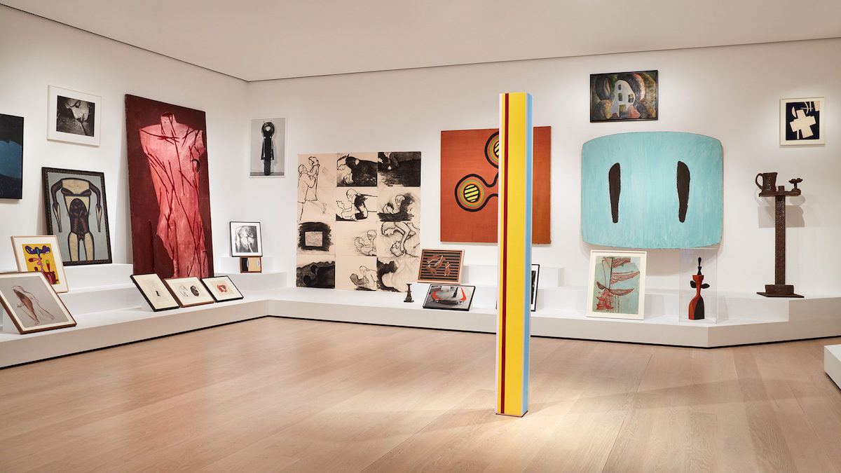 Installation view ofArtist's Choice: Amy Sillman—The Shape of Shape,on view at The Museum of Modern Art, New York from October 21, 2019, through April 12, 2020. © 2019 The Museum of Modern Art. Photo: Heidi Bohnenkamp