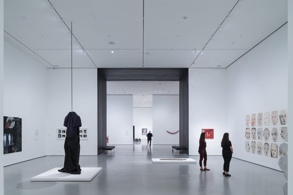 Installation View of David Geffen Wing gallery 206,Transfigurations, The Museum of Modern ArtWith view of Blackened Steel PortalThe Museum of Modern Art Renovation and ExpansionDesigned by Diller Scofidio + Renfro in collaboration with GenslerPhotography by Iwan Baan, Courtesy of MoMA