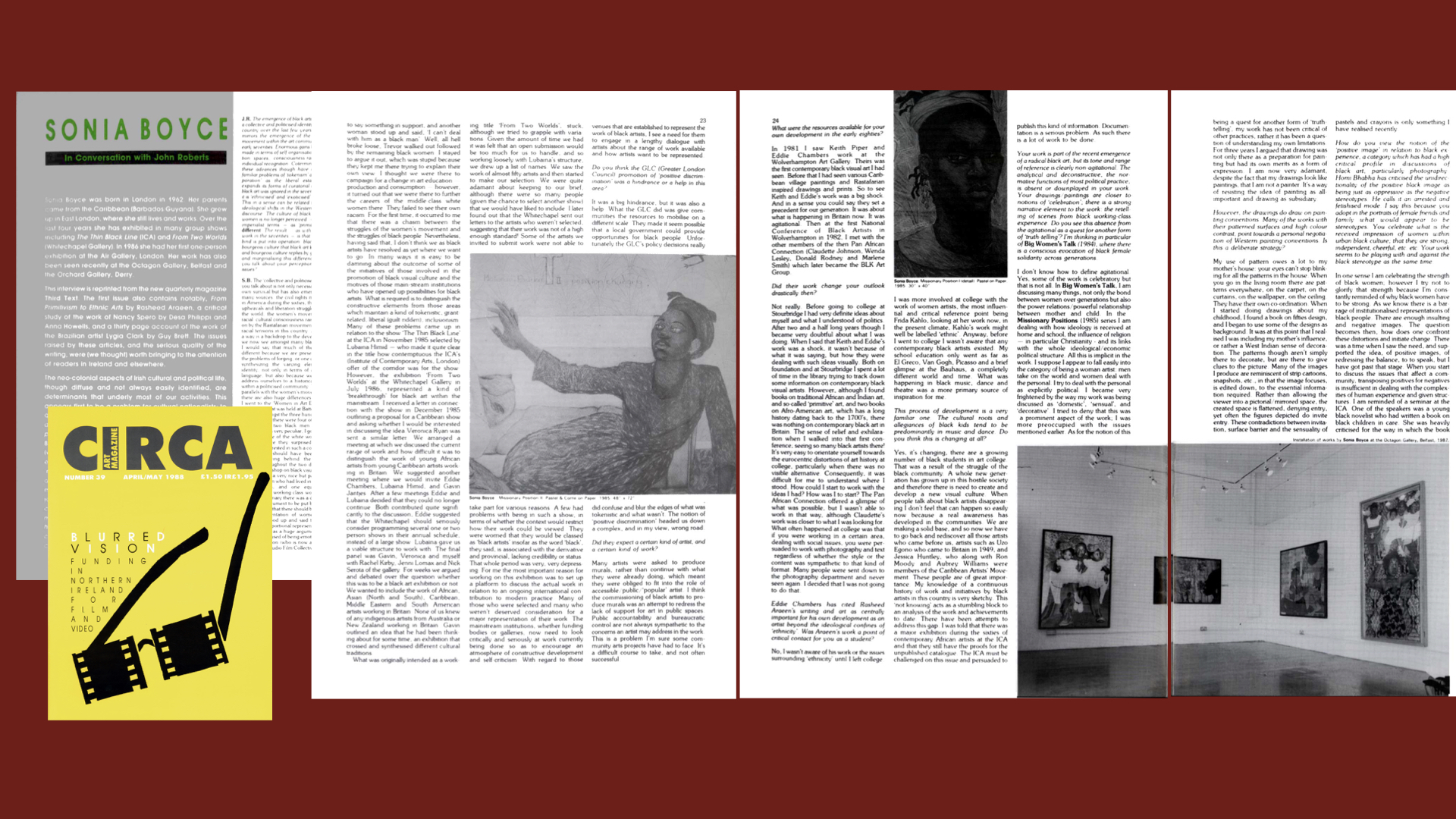 CIRCA Issue #39 – Sonia Boyce in Conversation with John Roberts