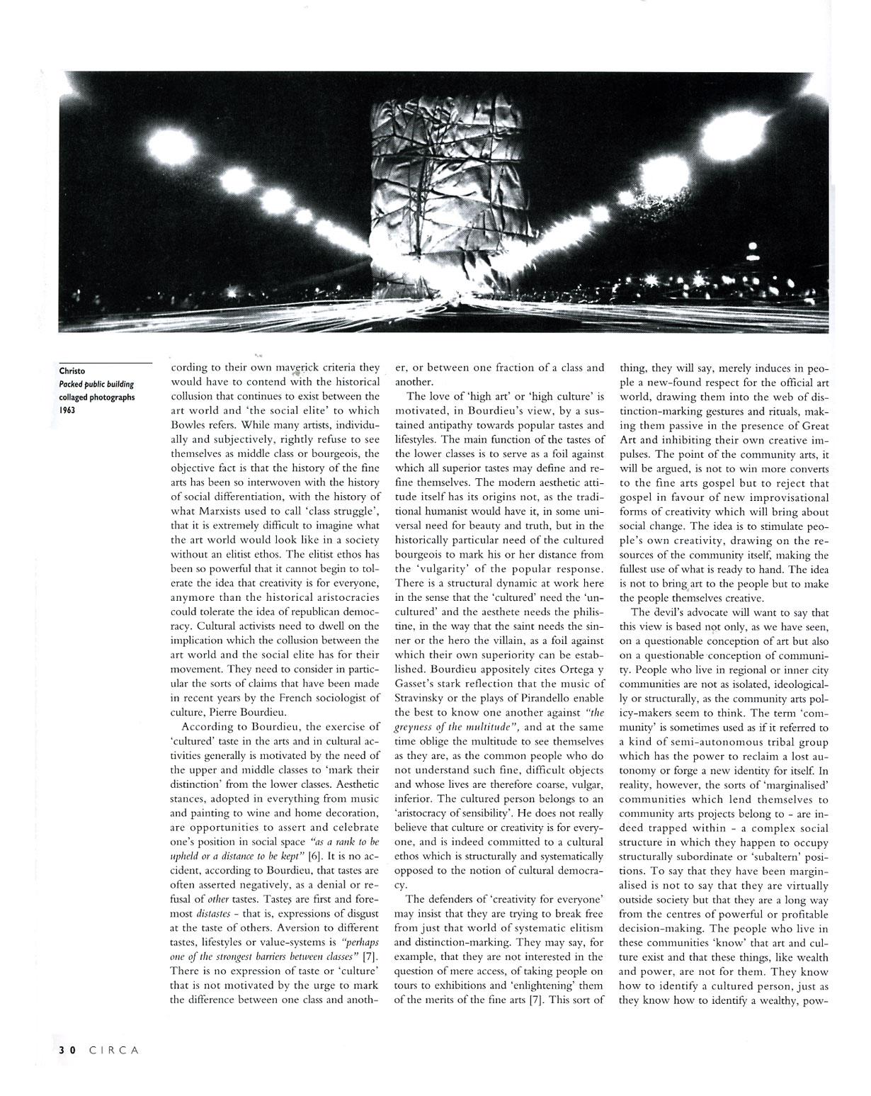 Circa Art Magazine, Issue 67, Spring 1994, p. 30