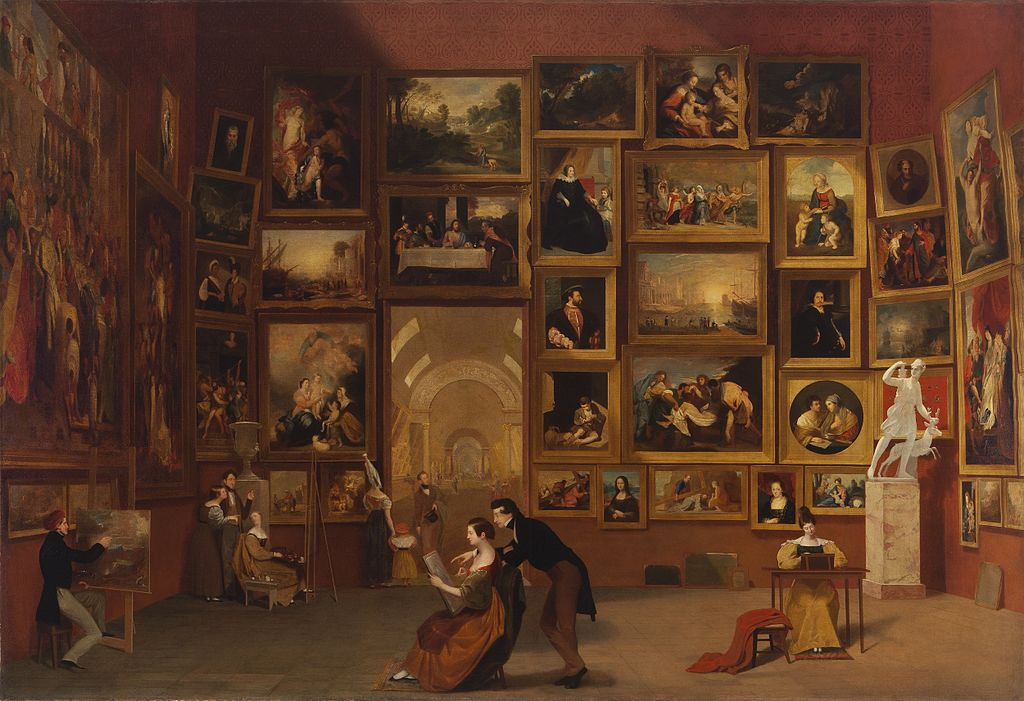 Figure 2. Samuel F.B Morse, Gallery of the Louvre, 1831 – 1833.