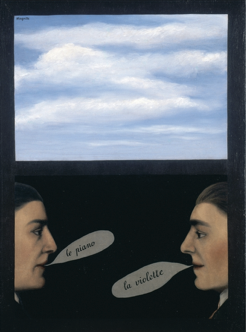 Fig. 2. René Magritte, L'usage de la parole (I) (1928). © 2014 C. Herscovici/Artists Rights Society (ARS), New York. Oil on canvas. Private collection. Banque d'Images, ADAGP/Art Resource, NY.